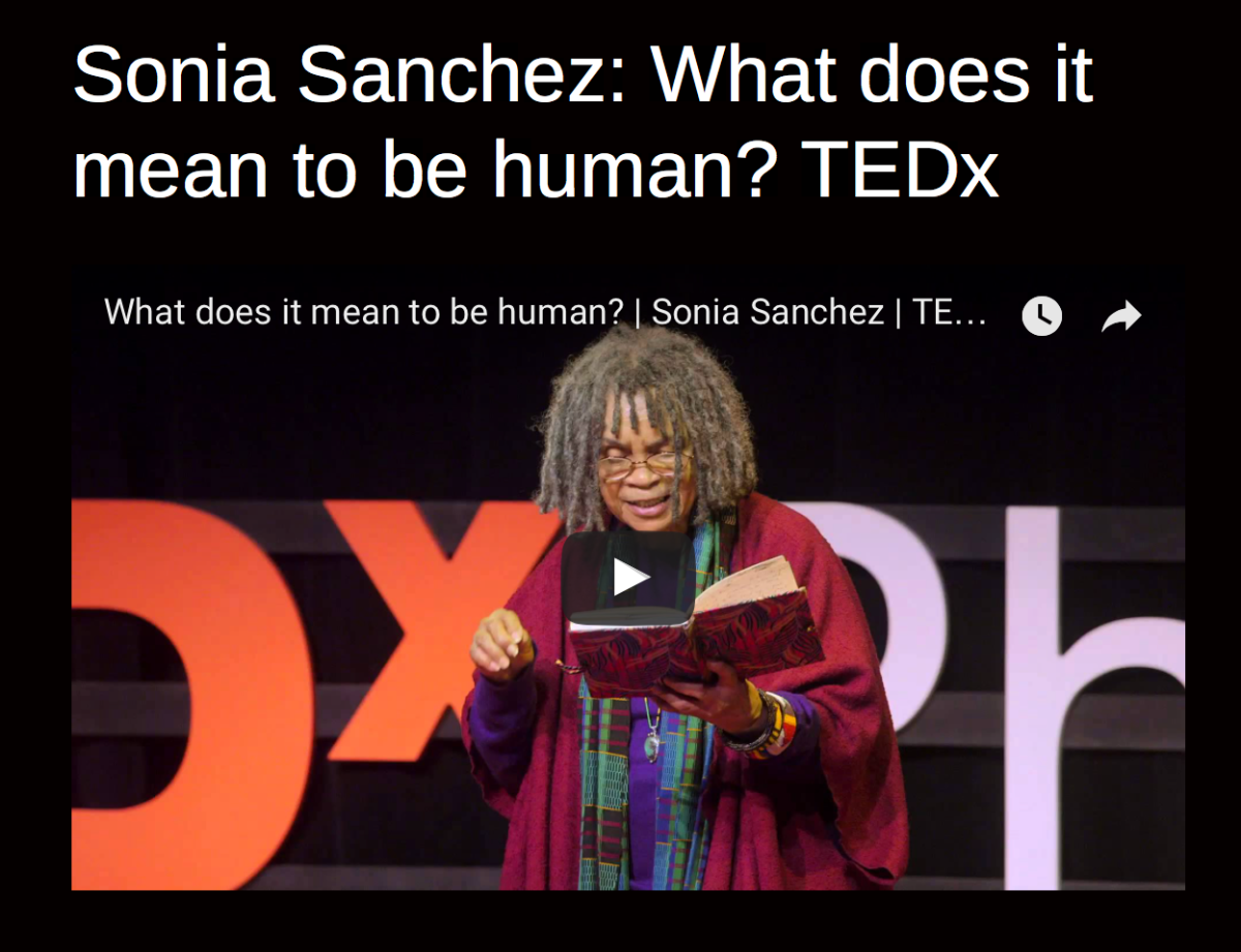 Sonia Sanchez: What does it mean to be human? TEDx